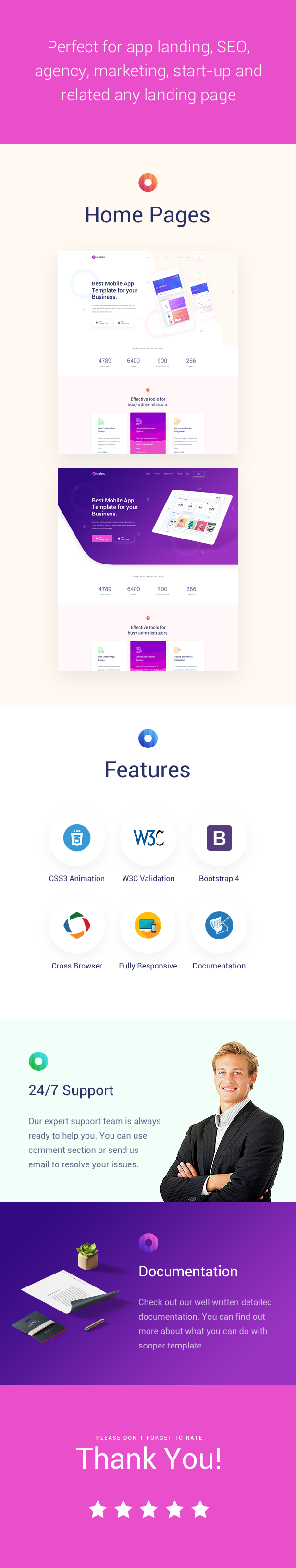 Opins - Creative App Landing Page HTML Template - 1